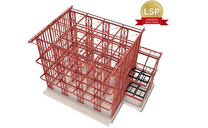 レオパレス21では、それぞれの商品に合わせて3つの構造タイプから採用。先進の技術と施工品質により、いずれも高い構造性能を実現しています。3階建・4階建は、鉄骨